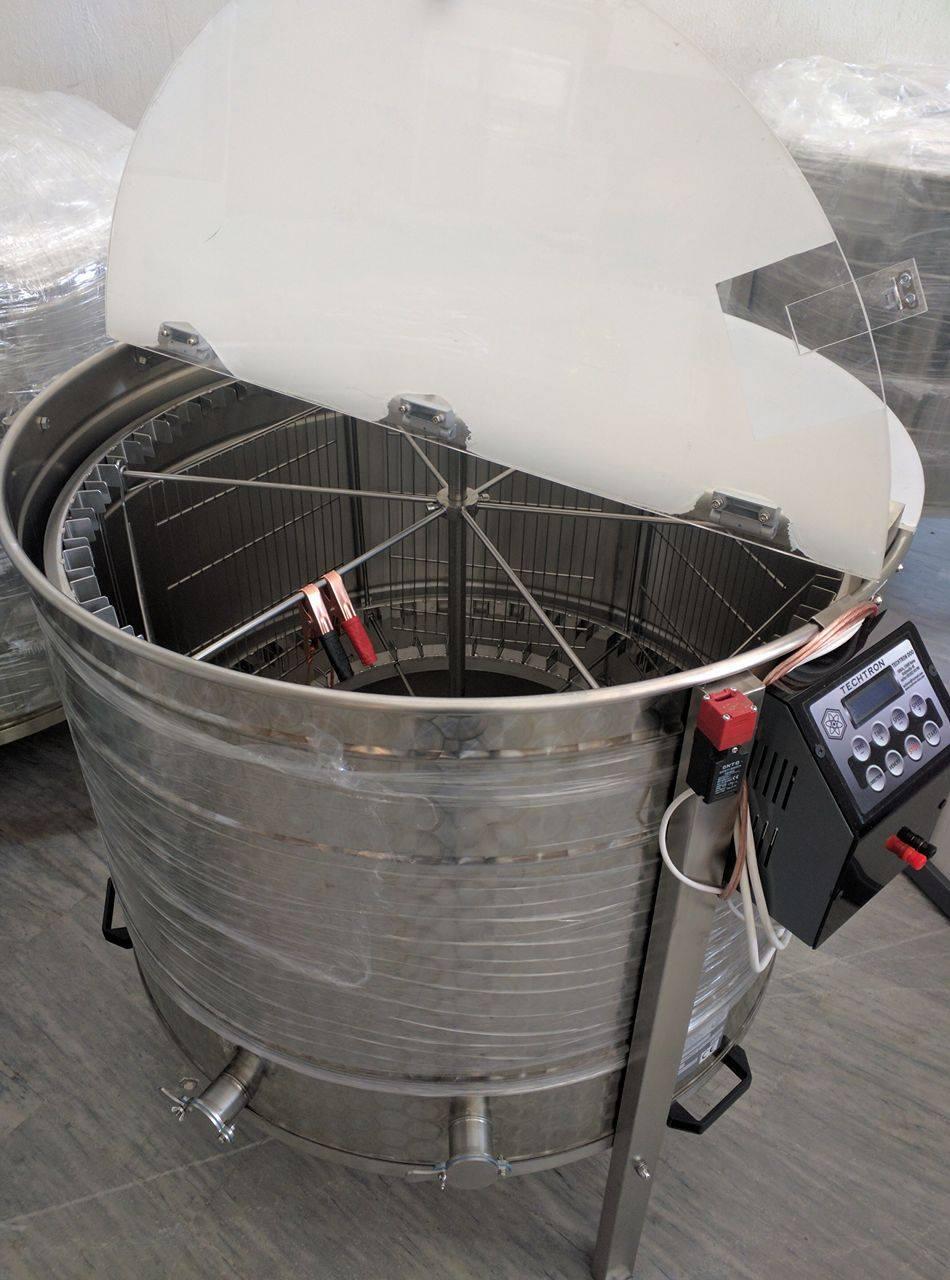 Μελιτοεξαγωγέας 6άρης+42 ακτινωτά πλαισίων (Ηλεκτρικός) 3 σε1 ΙΝΟΧ