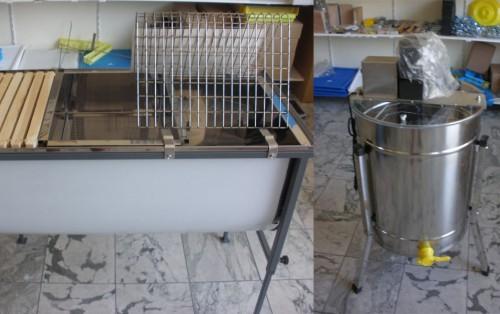 Μελιτοεξαγωγείς - Μηχανήματα-Κηροτήκτης